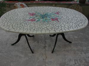 TABLE JARDIN MADE IN MOSAIC
