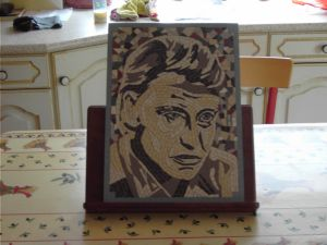 Tableau portrait mosaique modele image johnny halliday for Miroir johnny hallyday