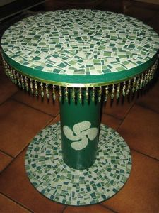 TABLE MOSAIQUE VERTE Mr BETBEDER