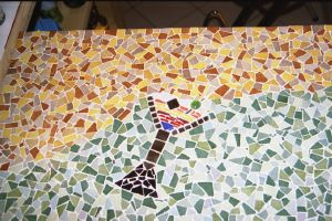 TABLE COKTAIL MOSAIQUE mme LAUTRETTE