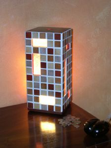 LAMPE mosaique mme DEMAY