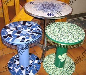 table et objet mosaique modele image en mosaiques table. Black Bedroom Furniture Sets. Home Design Ideas