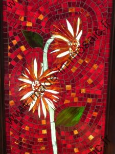 Tournesol vitrail de l'atelier MADE IN MOSAIC