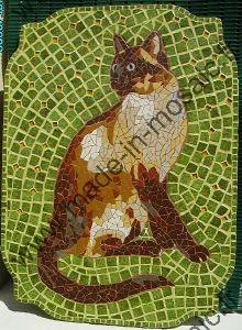 Tableau Animaux Mosaique Modele Image En Mosaiques Chat