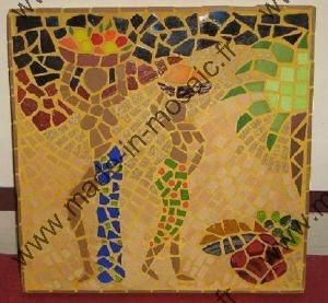 tableau portrait mosaique modele image march africain en mosaiques portrait chez made in mosaic. Black Bedroom Furniture Sets. Home Design Ideas