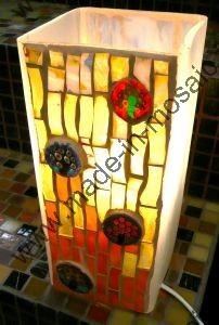 Miroir Vitrail Modeles lampe mosaique - modele millifiori en mosaiques vitrail et lampes