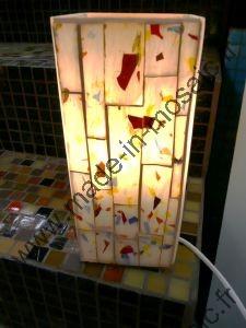 Lampe Mosaique Modele Fusing En Mosaiques Vitrail Et Lampes Chez