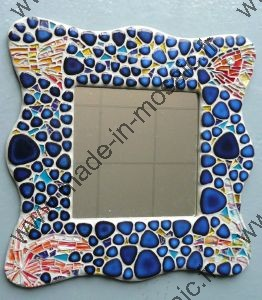 MIROIR  POISSON atelier made in mosaic