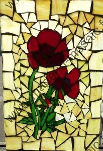 Vitrail Miroir Modele tableau fleur mosaique - modele image en mosaiques vitrail