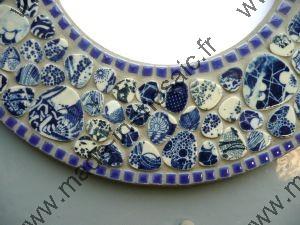 Decouvrez des modeles de miroir en mosaiques de made in mosaic miroir rond en mosaique - Modele massief avec galets ...