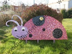 Decouvrez des cr ations mosaiques de made in mosaic for Coccinelle decoration exterieure