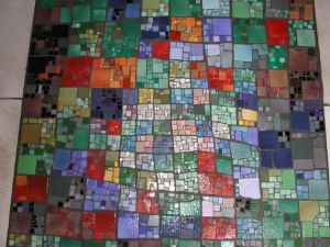 TAPIS DE SOL d'APRES KLEE REALISATION MADE IN MOSAIC