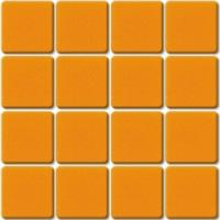 Orange mosaïque Orange 107E smalti mat par 36 carreaux