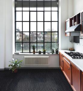 Mosaïque Décor Damero Hexagone Noir Et Blanc 1 M²  Mosaïque Sur Mesure Sol  Et Mur