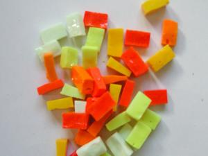 Jaune assortiment mosaïque smalt jaune orange vif de M76/M80 par 100g