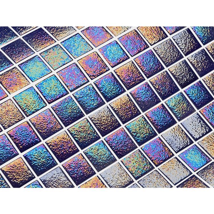 Mosaik Carrelage en verre bleu fonc/é pour salle de bain ou salle de bain 10 tapis de mosa/ïque