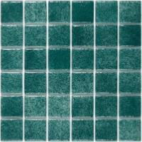 Mosaïque émaux de verre , vert émeraude turquoise moucheté par m² ...