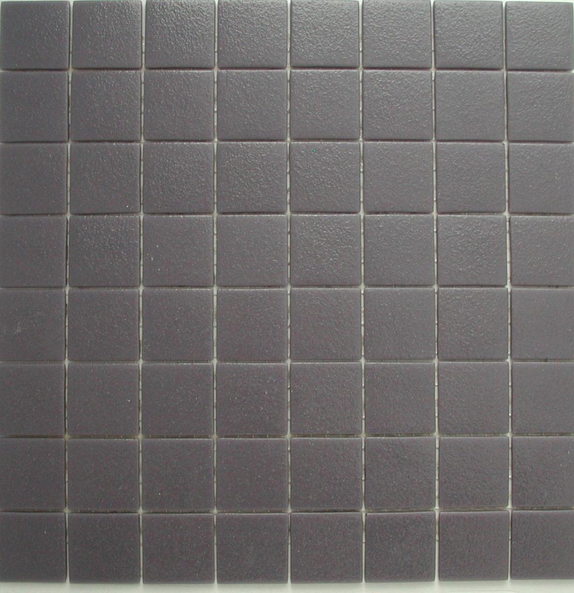 Carrelage De Salle De Bain Gris gris mauve uni antidérapant 4 cm mosaïque émaux par m²