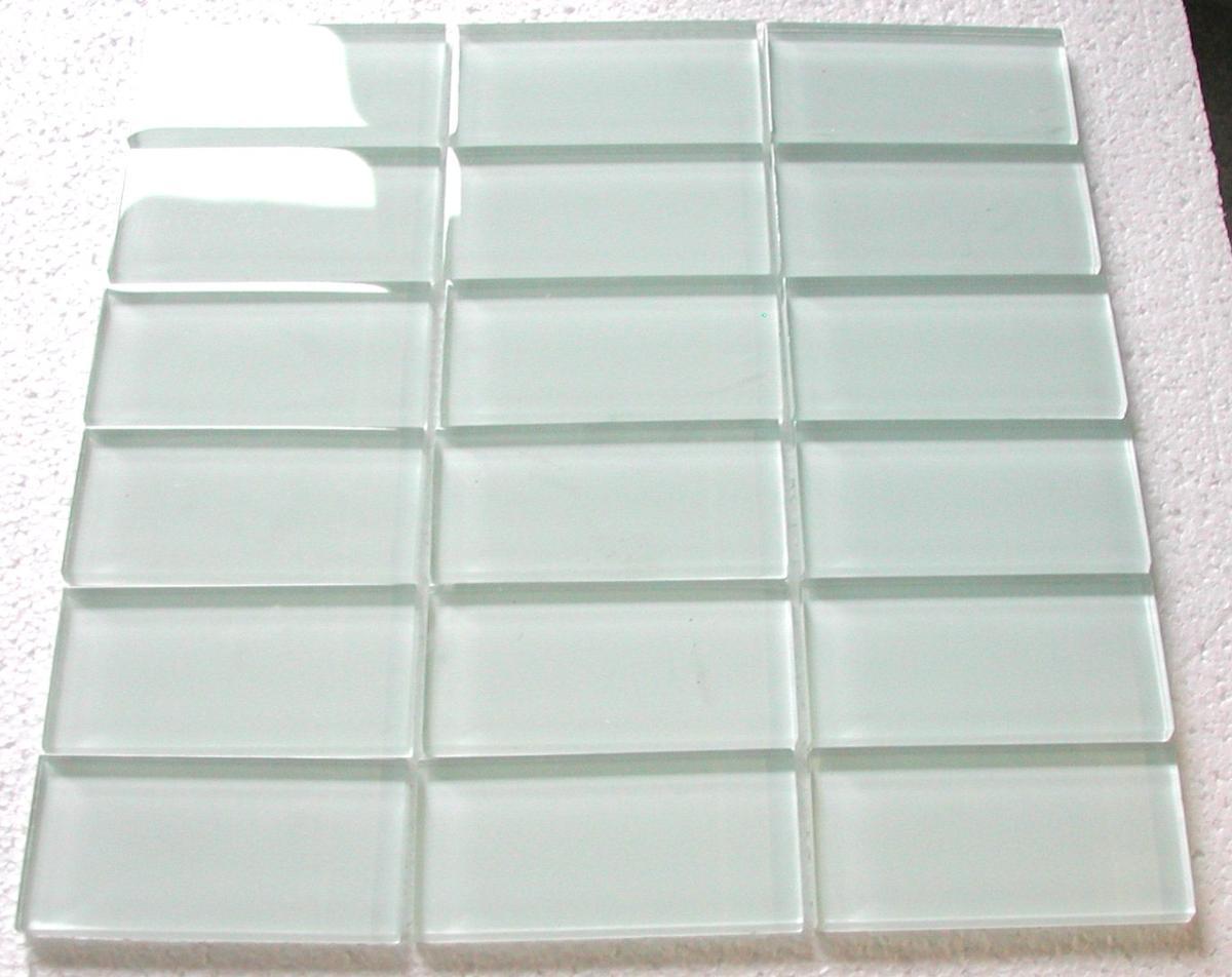 Blanc mosaïque blanc brillant rectangle 48 mm par 98 mm mosaïque émaux  vetrocristal lot de 11 M2