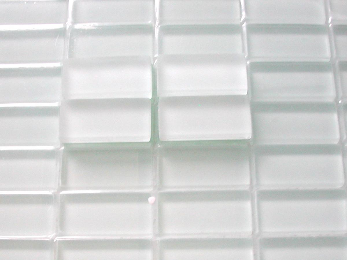 Par M2 Blanc Mosaïque Mat Rectangle Lot De Vetrocristal Mm 11 48 23 Émaux OiukXTwPZ