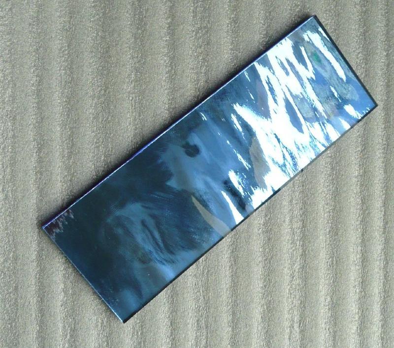 Miroir mosa que bleu saphir format 5 par 20 cm pour vos for Miroir 5 bandes