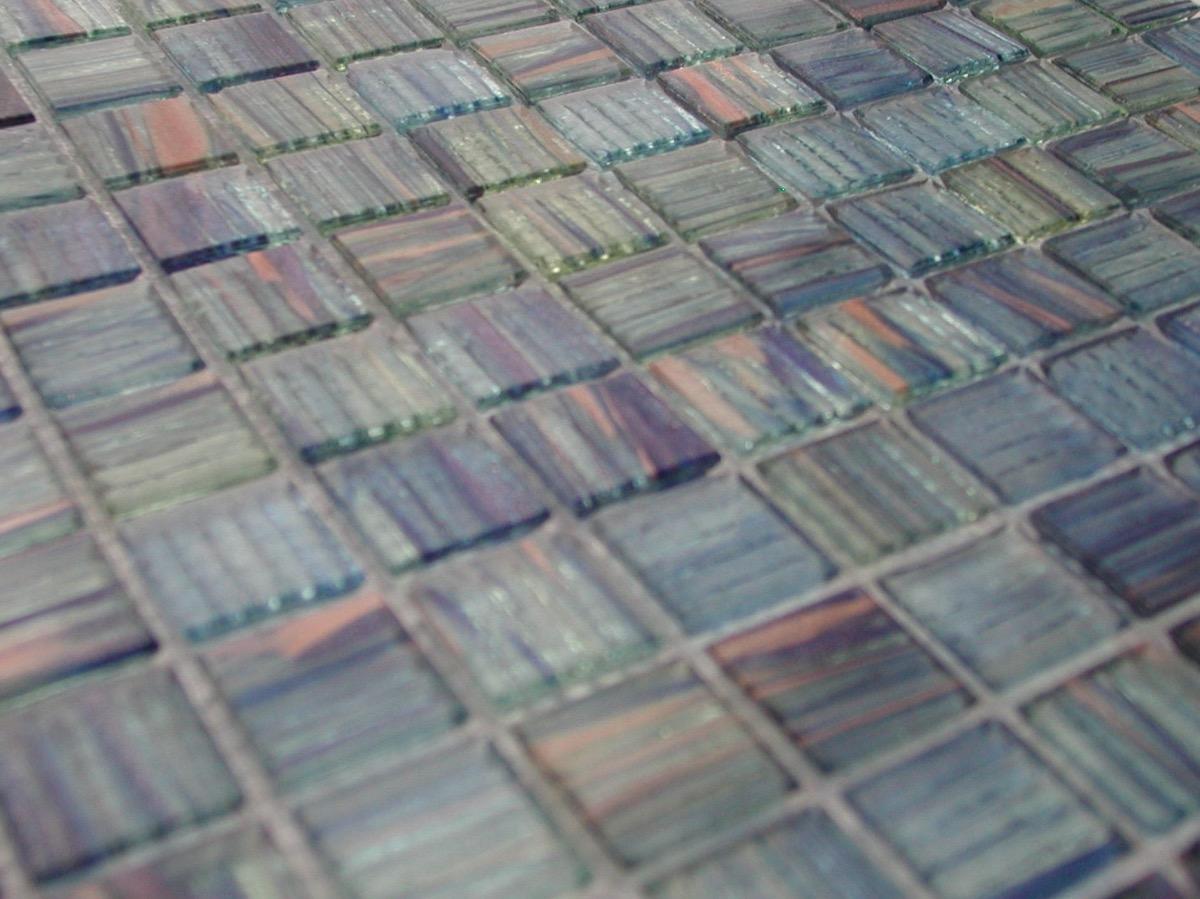 mosaique p te de verre artisanale avec gemmes bleu aqua vitae plaquette 2 cm. Black Bedroom Furniture Sets. Home Design Ideas
