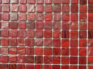 mosa que p te de verre gemmes rouge 2 cm plaquette pates de verre. Black Bedroom Furniture Sets. Home Design Ideas