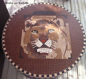 table tête de lion mme Fillipi