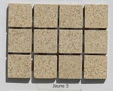 Beige travertin dit jaune5 2 par 2cm mosaïque grès antique paray par 100g