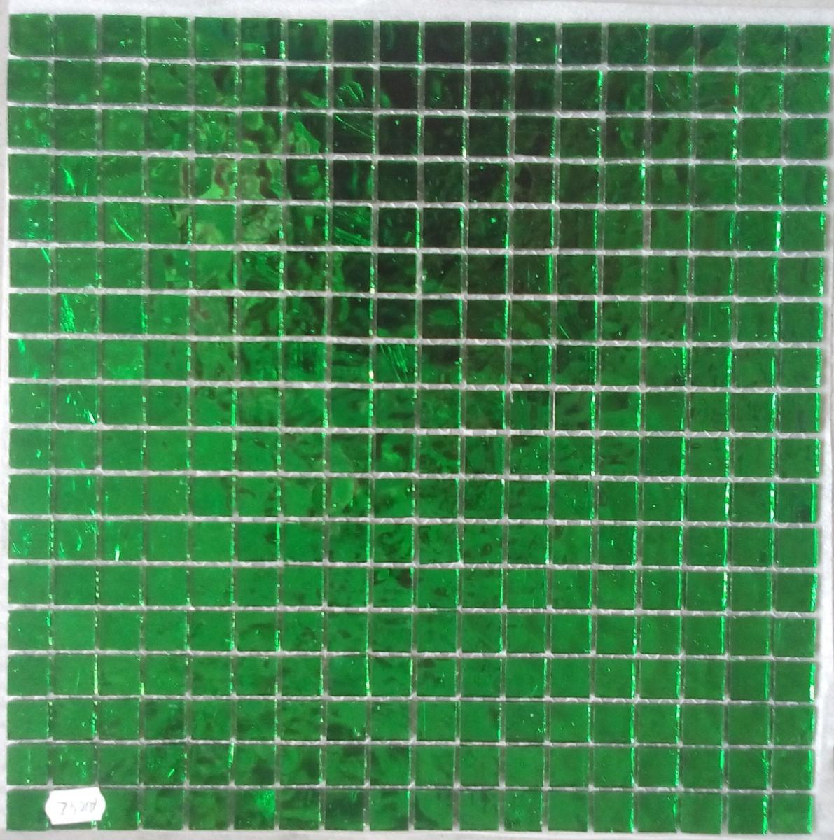 Mosa que miroir vert fonc 1 5 cm en plaque achat et for Mosaique miroir