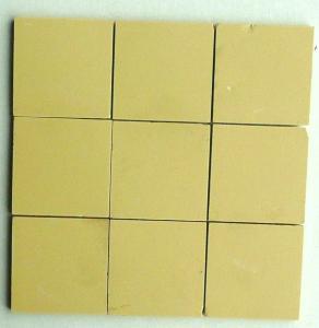 Mosa que carrelage jaune paille 5 cm mat achat de for Carrelage jaune