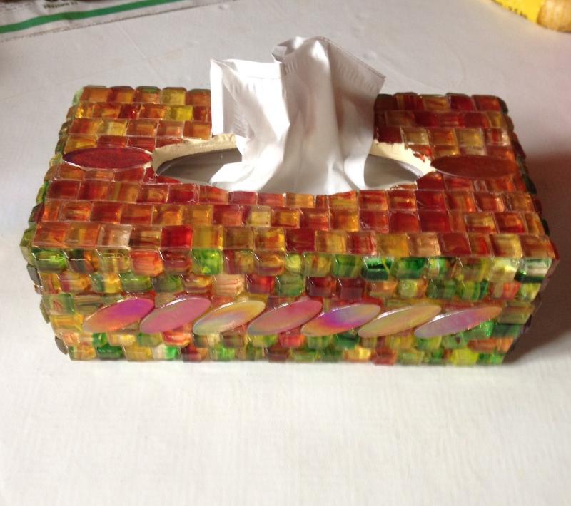 Bo te mouchoir boite mouchoir d corer ou faire une for Decorer une boite a mouchoirs en bois
