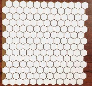 Emaux de briare muguet hexagone blanc pur par plaque de 31 8 par 32 1 cm achat d 39 maux de briare - Briare carrelage ...