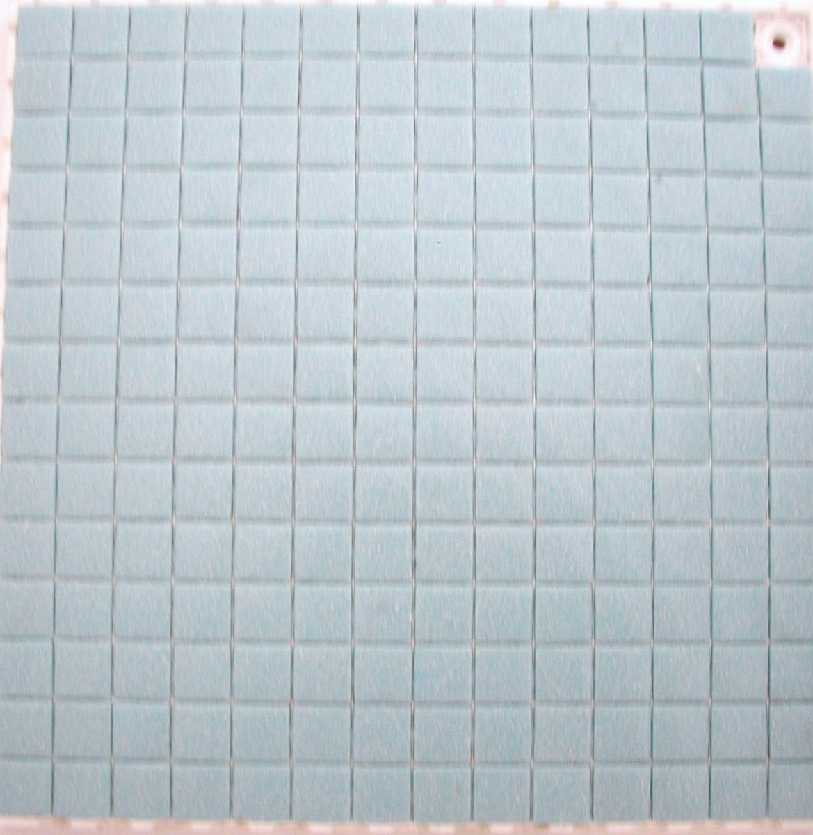 Salle De Bain Chocolat Turquoise bleu turquoise clair granité mosaïque émaux brillant bord droit par  plaquette de 20 carreaux