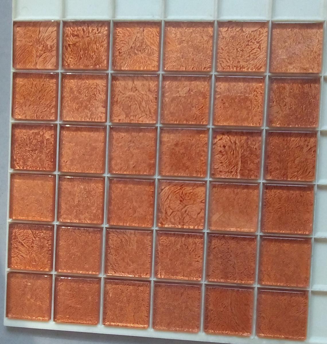 Mosa que carrelage et frise ambre 4 8 cm par plaque for Achat carrelage mosaique