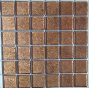 Mosa que carrelage et frise brun miel 4 8 cm par plaque for Achat carrelage mosaique