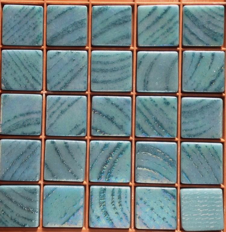 Mosaïque pâte de verre bleu turquoise Fuji - Mosaïque bleu turquoise ...