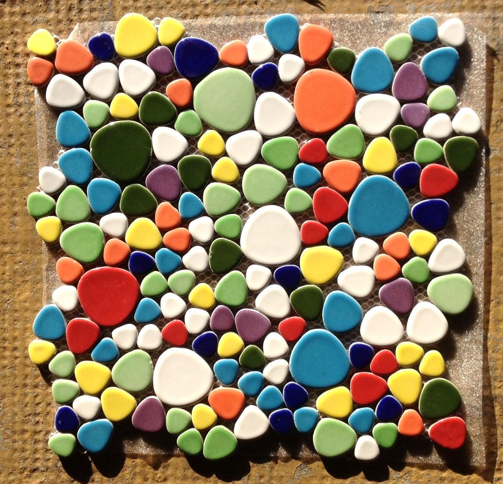 Mosa que galets maill s m lange arlequin au m vente en for Galets decoratifs de couleur
