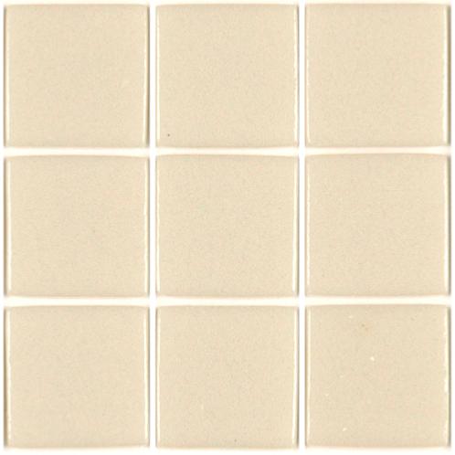 Blanc cassé Bi mosaïque émaux brillant pleine masse