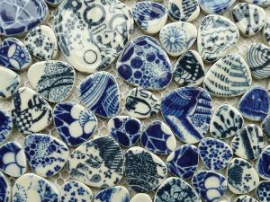 galets japonais bleu porcelaine plaque vente en ligne de mosa ques galet. Black Bedroom Furniture Sets. Home Design Ideas