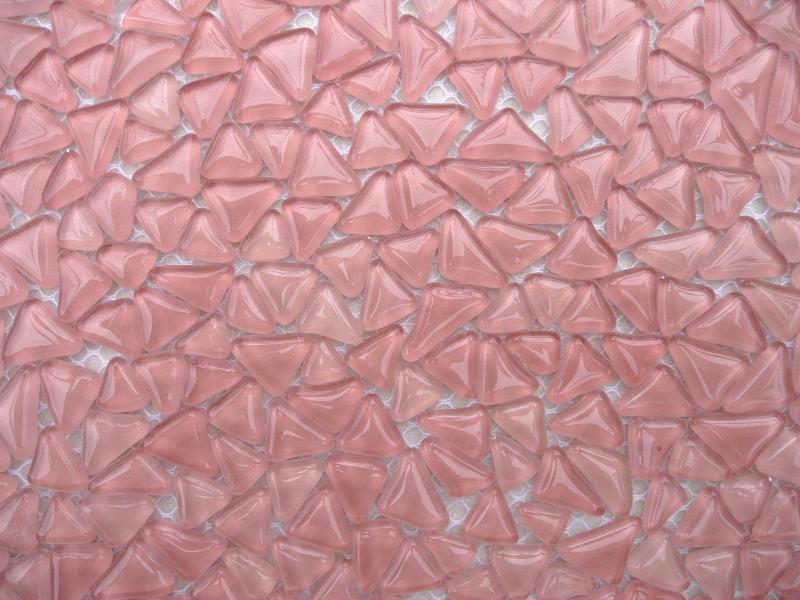 Galets de verre rose en plaque vente en ligne de for Carrelage mosaique rose