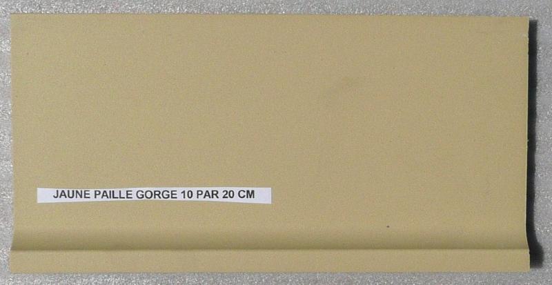 Carrelage plinthe gorge jaune paille mat achat de - Plinthe a gorge ...