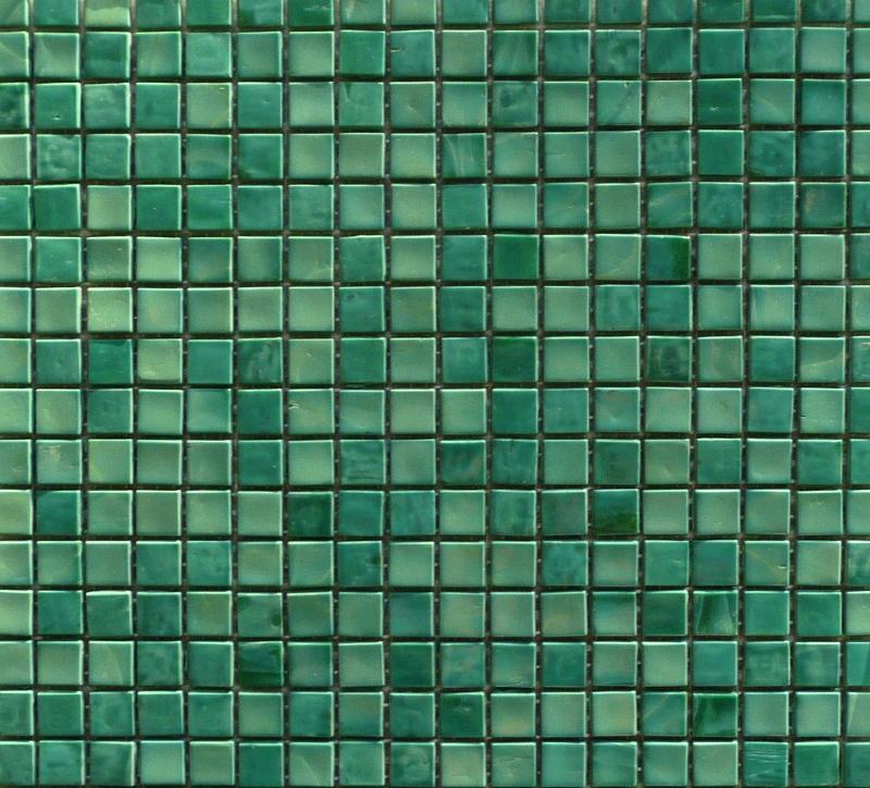mosaique vert turquoise fonc maux de venise vendu par 25 carreaux de 15 par 15cm - Mosaique Turquoise