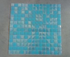 Mosaïque Piscine , Bleu Azur Clair Nacré Par M²  Achat Mosaïque Salle De  Bain Piscine