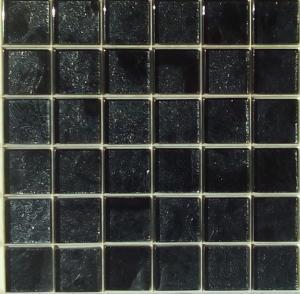 mosa que carrelage et frise noir avec feuille argent 4 8 cm par m2 achat mosa que carrelage. Black Bedroom Furniture Sets. Home Design Ideas