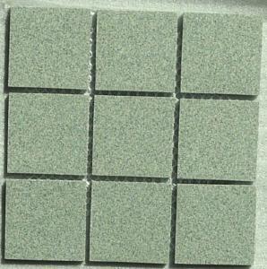 mosaique carrelage vert porphyre mouchet 5cm mat kg. Black Bedroom Furniture Sets. Home Design Ideas