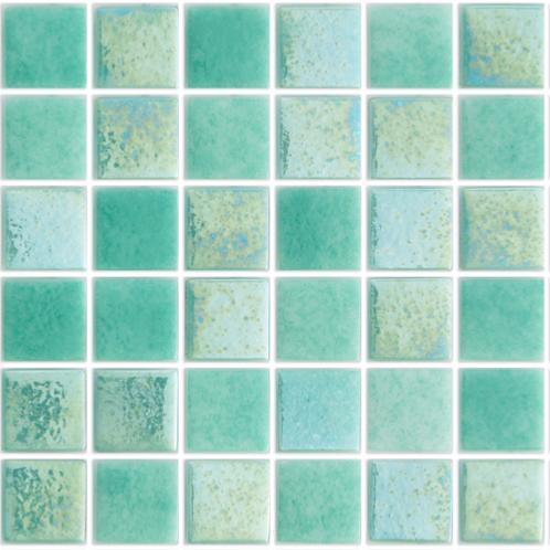 Vert nacré MIKONOS mosaïque émaux brillant 2.4 cm pleine masse par M²