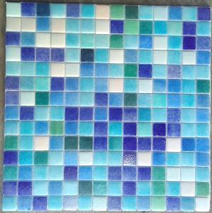 blanc bleu vert turquoise mosaque maux brillant mix couleurs plaque - Mosaique Turquoise
