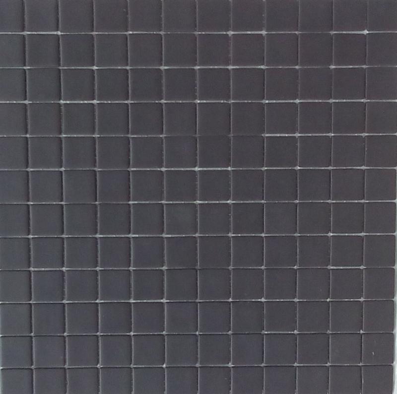 Mosa que emaux de verre mat noir 903 - Mosaique noire ...