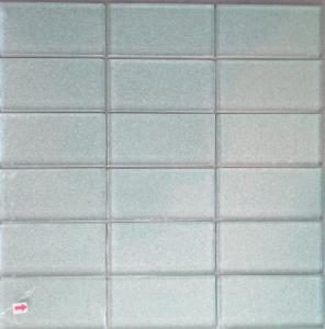 Mosa que carrelage et frise rectangle argent satin 100 for Achat carrelage mosaique